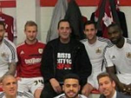 Bristol City Football Club fan who is dying of cancer and has days to live delivers powerful speech to players before team goes on to win crucial match